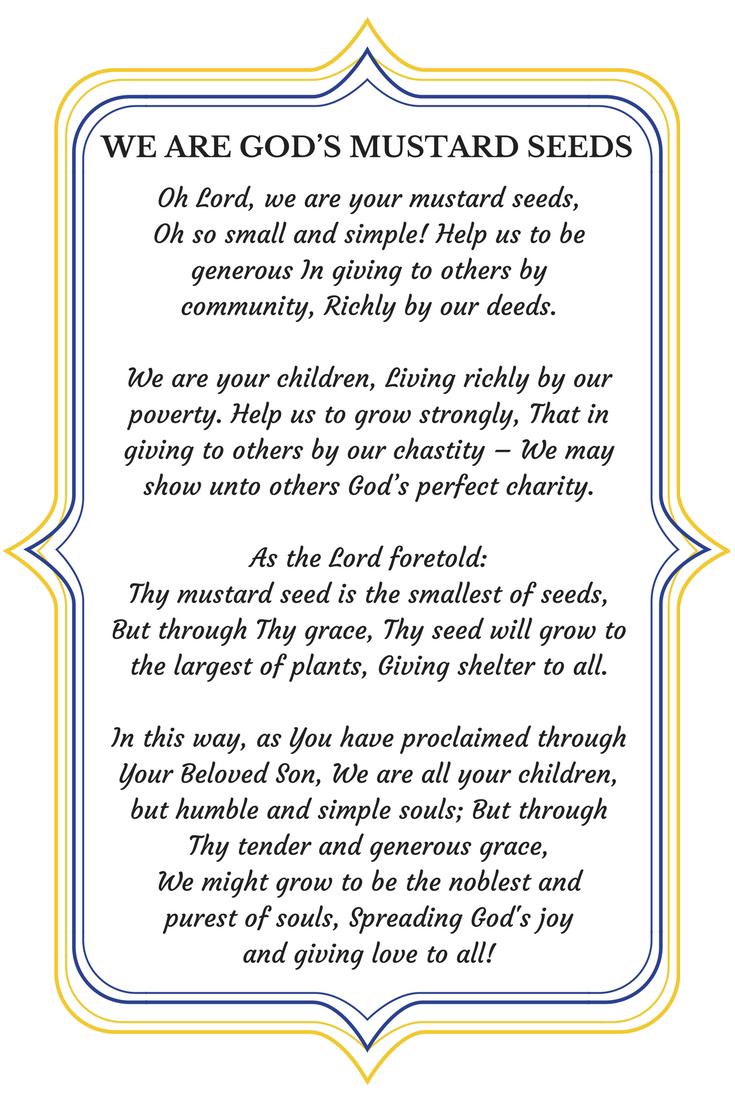 Mustard Seed Prayer