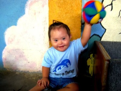 A child with disabilities in Nicaragua