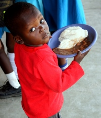 Child with Nutritious Meal