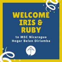 Welcome Iris and Ruby Nicaragua