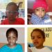 Four children in a grid, aged 5 months to 3 years old